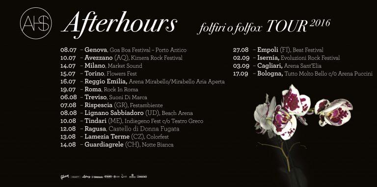 Afterhours tour estivo 2016